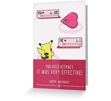 PokéLove Pink - Birthday Greeting Card Greeting Card