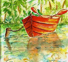 RED ROWBOAT by TYLER HOLLIS
