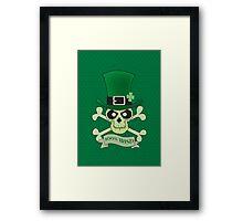 100% Irish.Green lucky irish skull Framed Print