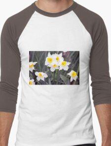 Spring Flower Series 37 Men's Baseball ¾ T-Shirt