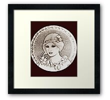 graphic art nouveau Framed Print