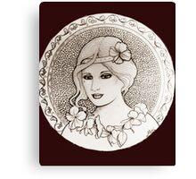 graphic art nouveau Canvas Print