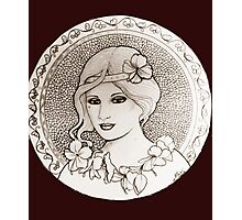 graphic art nouveau Photographic Print