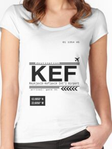KEF Reykjavik International Airport Call letters Women's Fitted Scoop T-Shirt