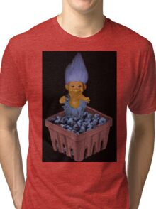 ✾◕‿◕✾ TROLL LOVING BLUEBERRIES VARIOUS APPAREL✾◕‿◕✾ Tri-blend T-Shirt