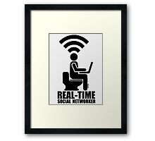 Real-time social networker Framed Print