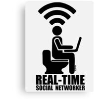 Real-time social networker Canvas Print