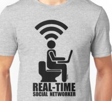 Real-time social networker Unisex T-Shirt