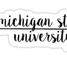 Michigan State University Arrow Sticker