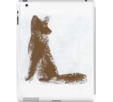 Brown Finger Painted Arctic Fox iPad Case/Skin