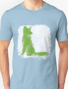 Lime Green Finger Painted Arctic Fox T-Shirt