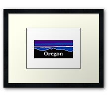Oregon Midnight Mountains Framed Print