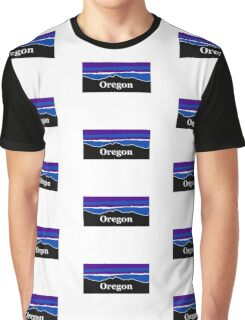 Oregon Midnight Mountains Graphic T-Shirt
