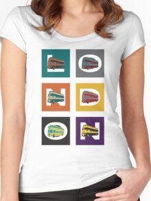London Double Decker Women's Fitted Scoop T-Shirt