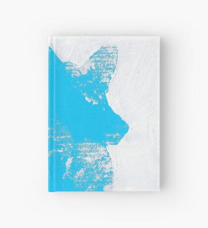 Cyan Finger Painted Arctic Fox Hardcover Journal