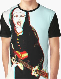 The 3D Rock'n Nun Graphic T-Shirt