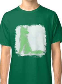 Mint Green Finger Painted Arctic Fox Classic T-Shirt