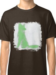 Mint Green Finger Painted Arctic Fox Classic T-Shirt