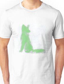 Mint Green Finger Painted Arctic Fox Unisex T-Shirt