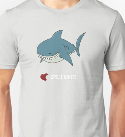 Love Great white Unisex T-Shirt