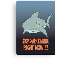 Stop shark finning Canvas Print