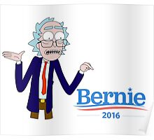 Rick and Morty for Bernie Sanders Poster