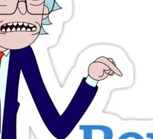Rick and Morty for Bernie Sanders Sticker