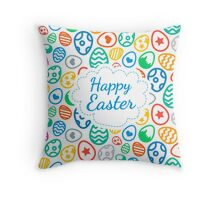 Happy Easter Background Throw Pillow