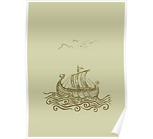 Viking ship Poster
