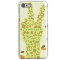 Earth Day Eco-Friendly Environmental Peace Hand Think Green iPhone Case/Skin