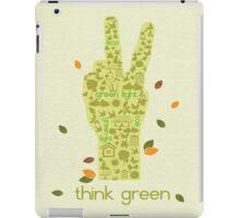 Earth Day Eco-Friendly Environmental Peace Hand Think Green iPad Case/Skin