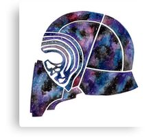 Kylo Ren inspired galaxy helmet Canvas Print