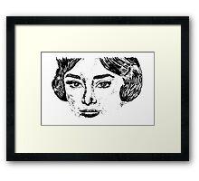Audrey's Face Framed Print