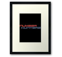 Number Hunters Framed Print