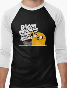 Bacon Pancakes - Adventure Time Men's Baseball ¾ T-Shirt