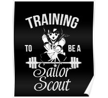 Training to be a Sailor Scout (Mercury) Poster