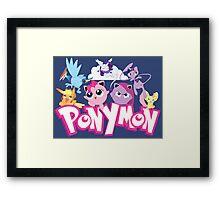 PonyMon: Friendship is captivation! Framed Print