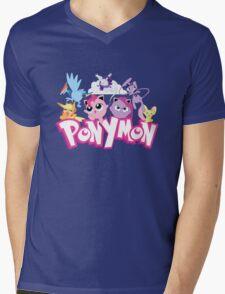 PonyMon: Friendship is captivation! Mens V-Neck T-Shirt