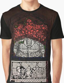 Black Stained Glass Graphic T-Shirt