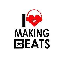 i love making beats Photographic Print