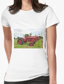 Row of Tractors Womens Fitted T-Shirt
