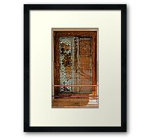 Ivory Door Framed Print