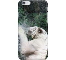 White tiger Catching meat in water iPhone Case/Skin