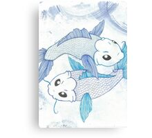 Blue Koi Fish Canvas Print