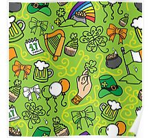 - St. Patrick`s Day pattern - Poster