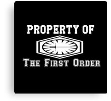 Property of The First Order Canvas Print