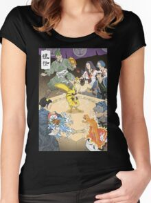 Old japan Pokemon Women's Fitted Scoop T-Shirt
