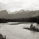 Banff National Park Series, 1974 - Castle Mtn. from the Bow River by Max Buchheit