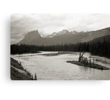 Banff National Park Series, 1974 - Castle Mtn. from the Bow River Canvas Print