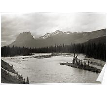 Banff National Park Series, 1974 - Castle Mtn. from the Bow River Poster